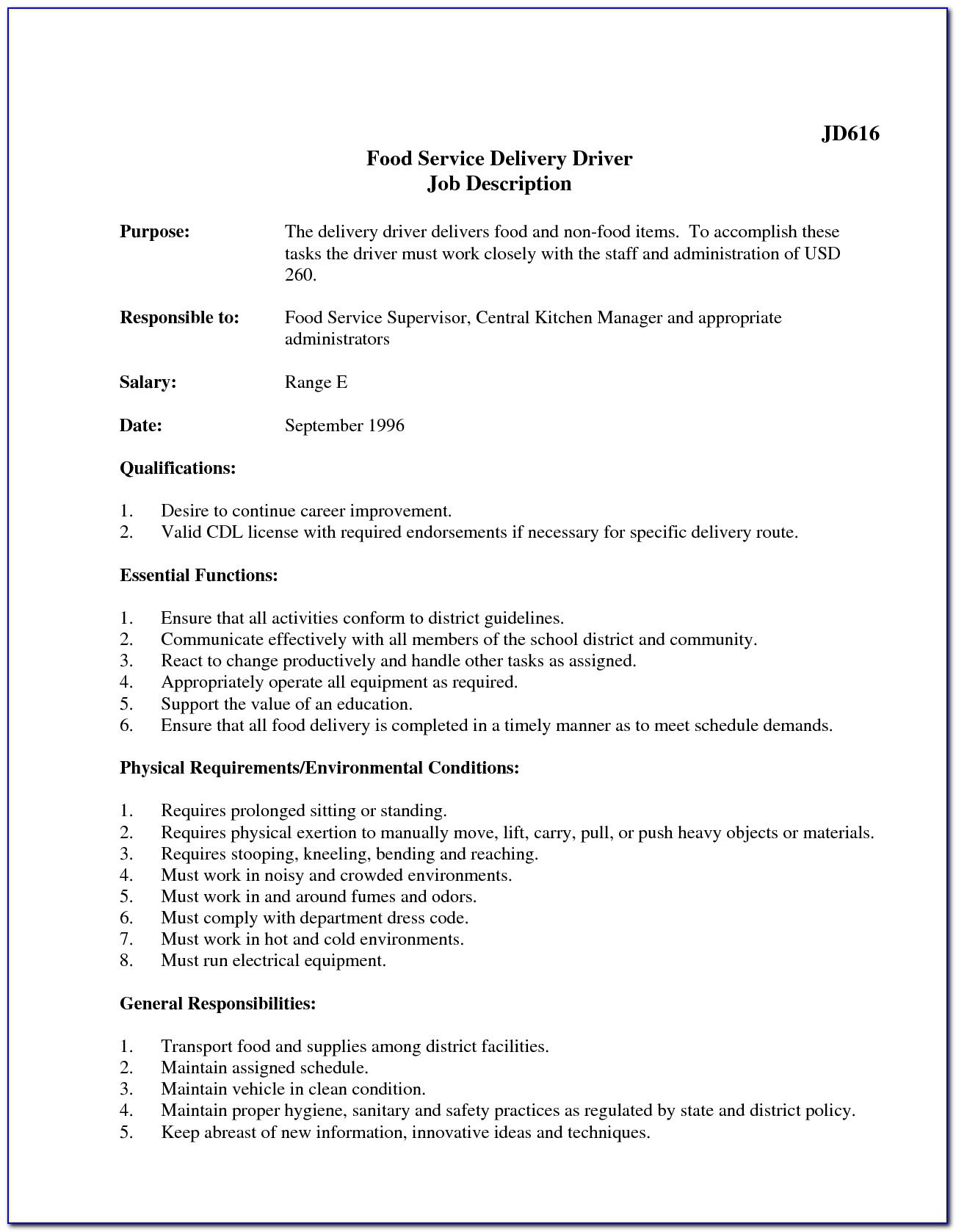 Resume Job Description For Delivery Driver Winsome Delivery Driver With Regard To Lift Driver Job Description