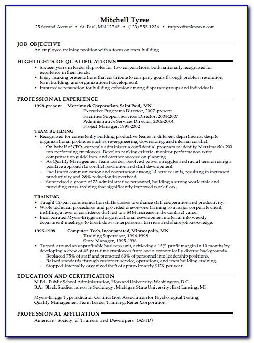 Certified Resume Writing Training