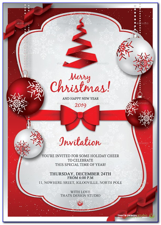 Christmas Invitation Template Word Free