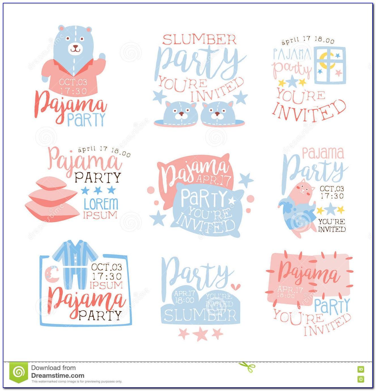 Christmas Pajama Party Invitation Template