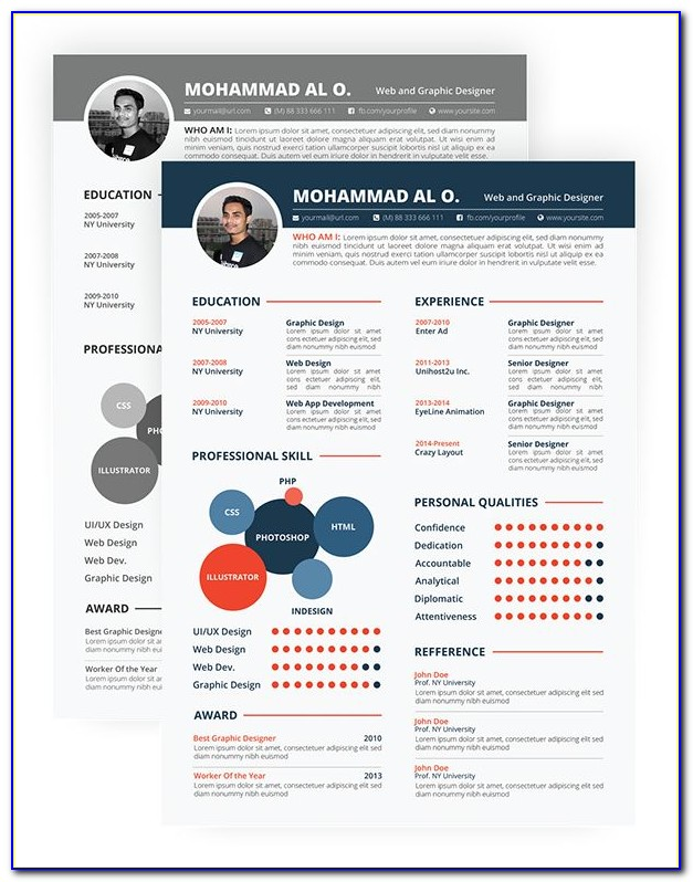 Colorful Resume Format Free Download