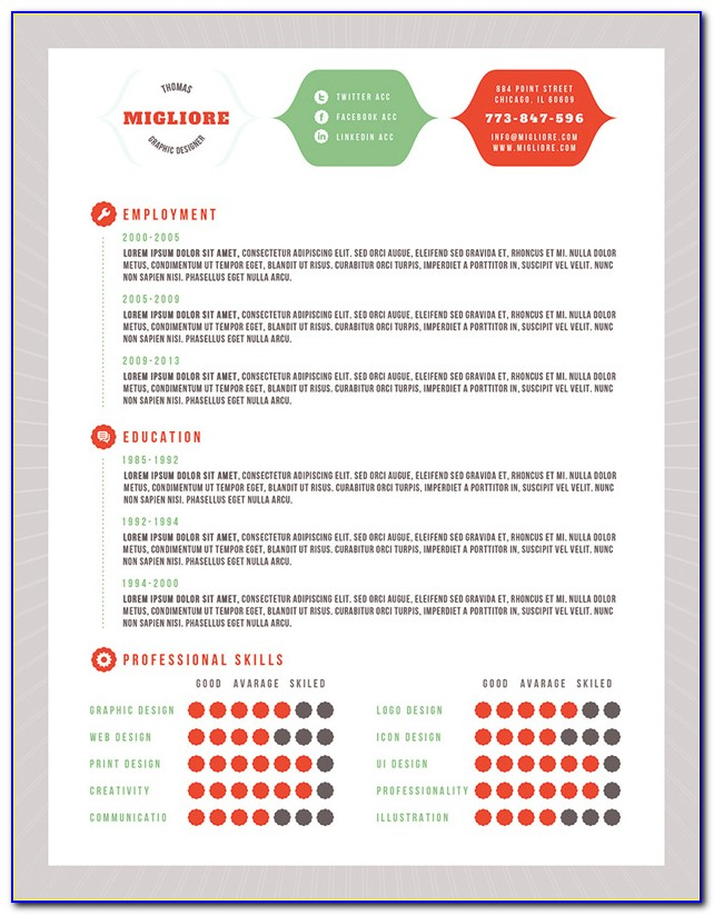 Colorful Resume Template Free