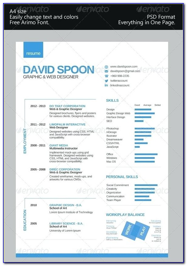 Colorful Resume Templates Free Download