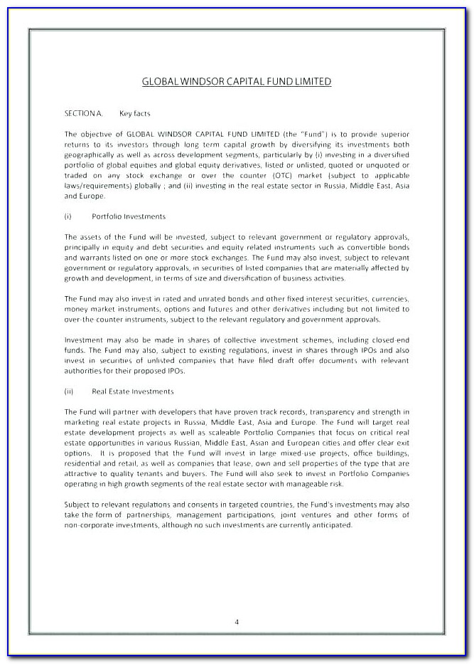 Commercial Real Estate Offering Memorandum Template Free