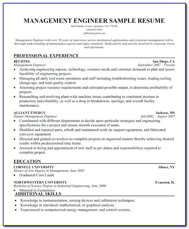 Construction Project Manager Resume Builder