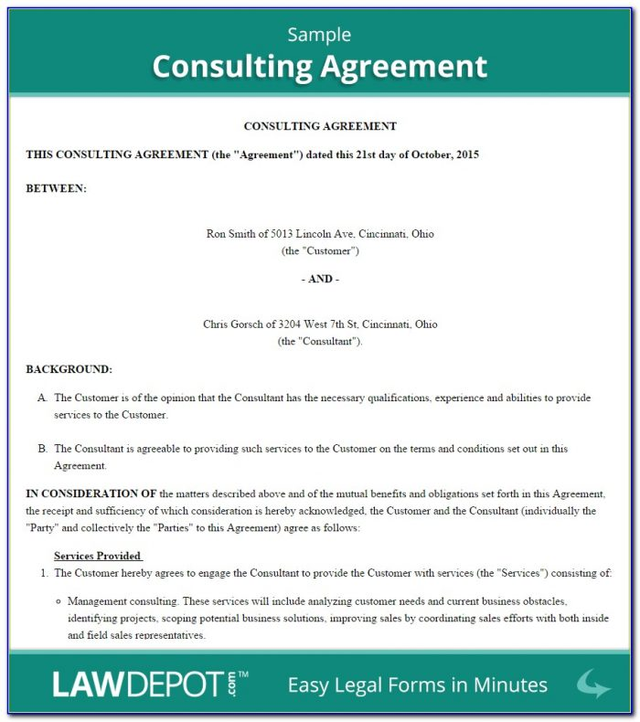 Consulting Contract Template Free Download