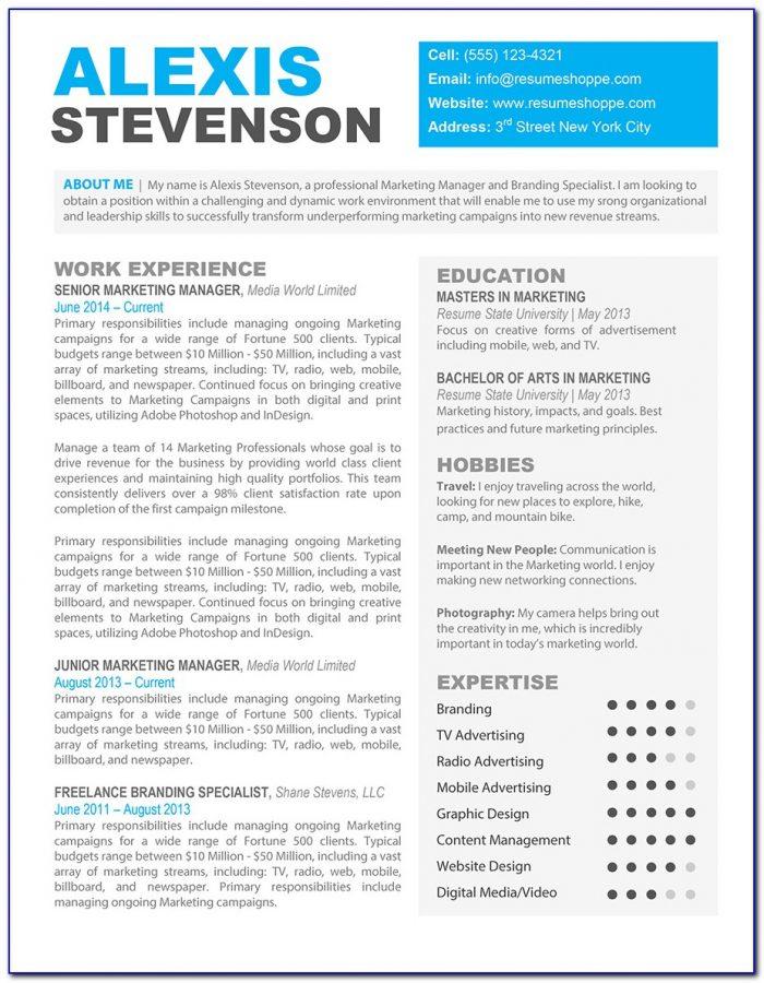 Creative Resume Template Word Free