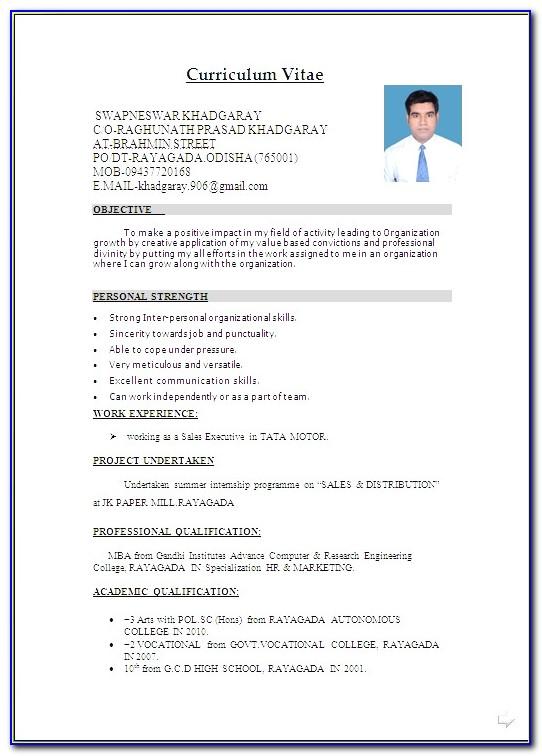 Curriculum Vitae (cv) Template