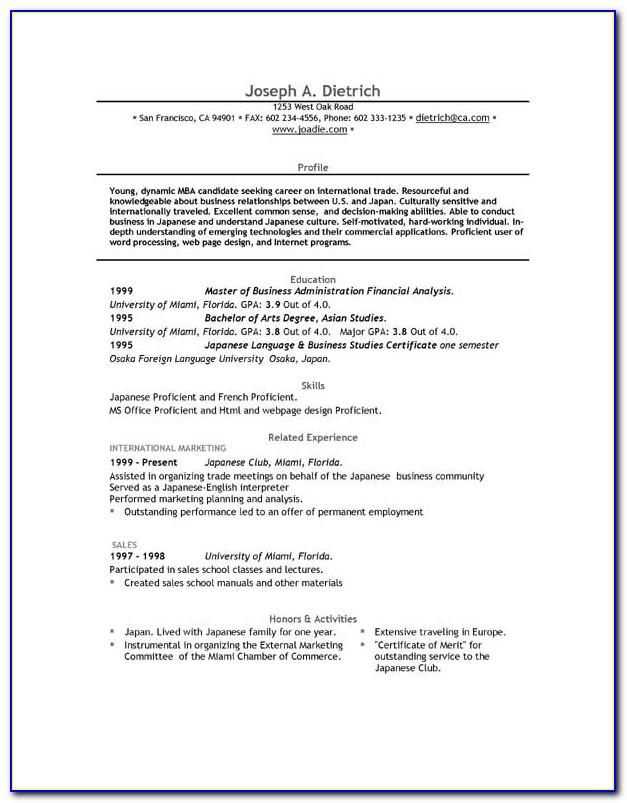 Curriculum Vitae Free Download Word Format