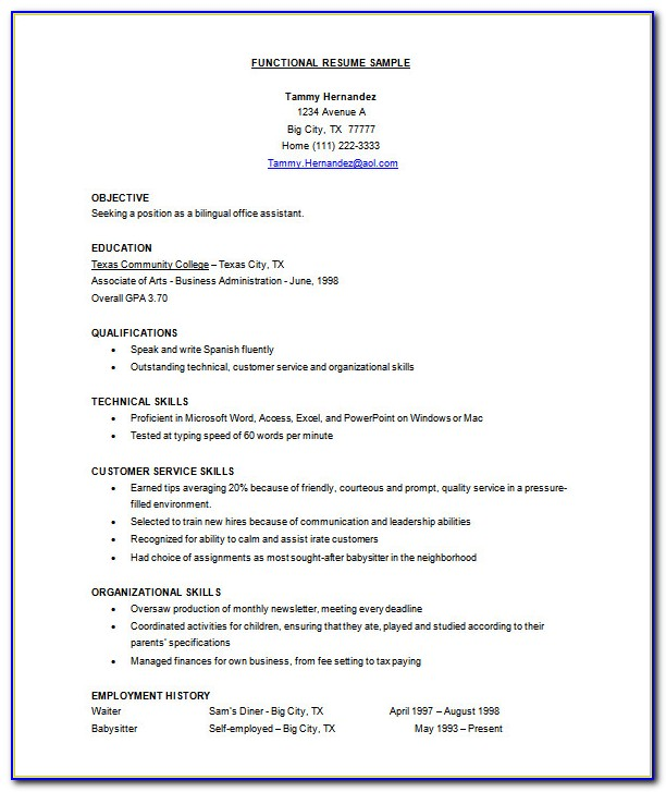Curriculum Vitae Samples Doc Free Download
