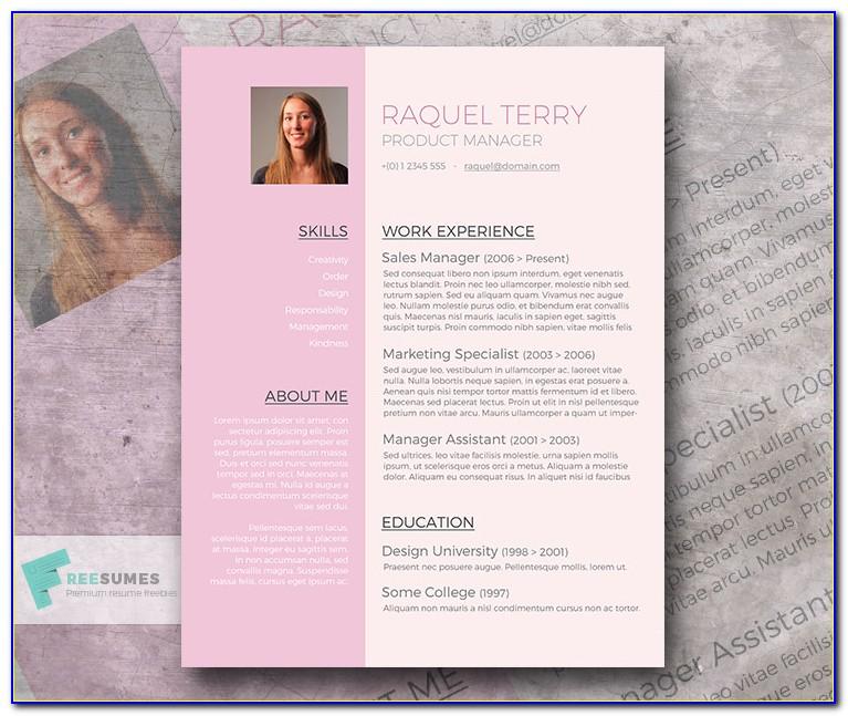 Cute Resume Templates Free
