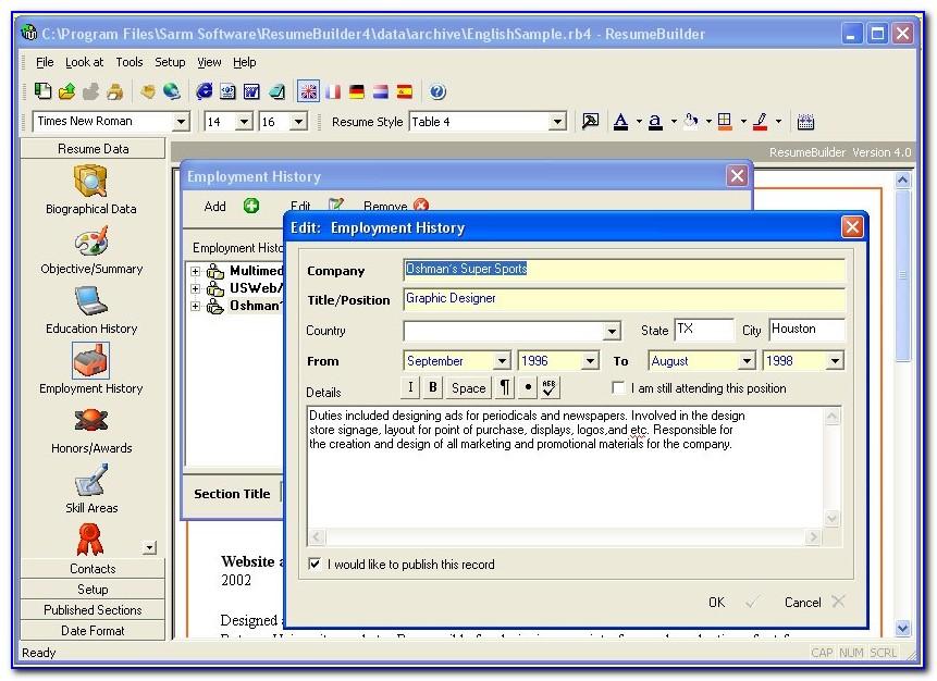 Cv Making Software Free Download