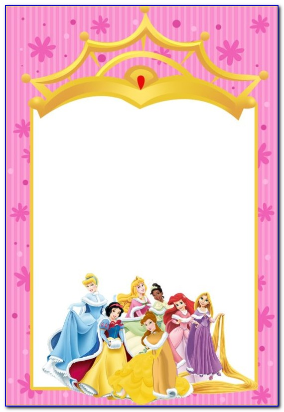 Disney Princess Invitation Card Template