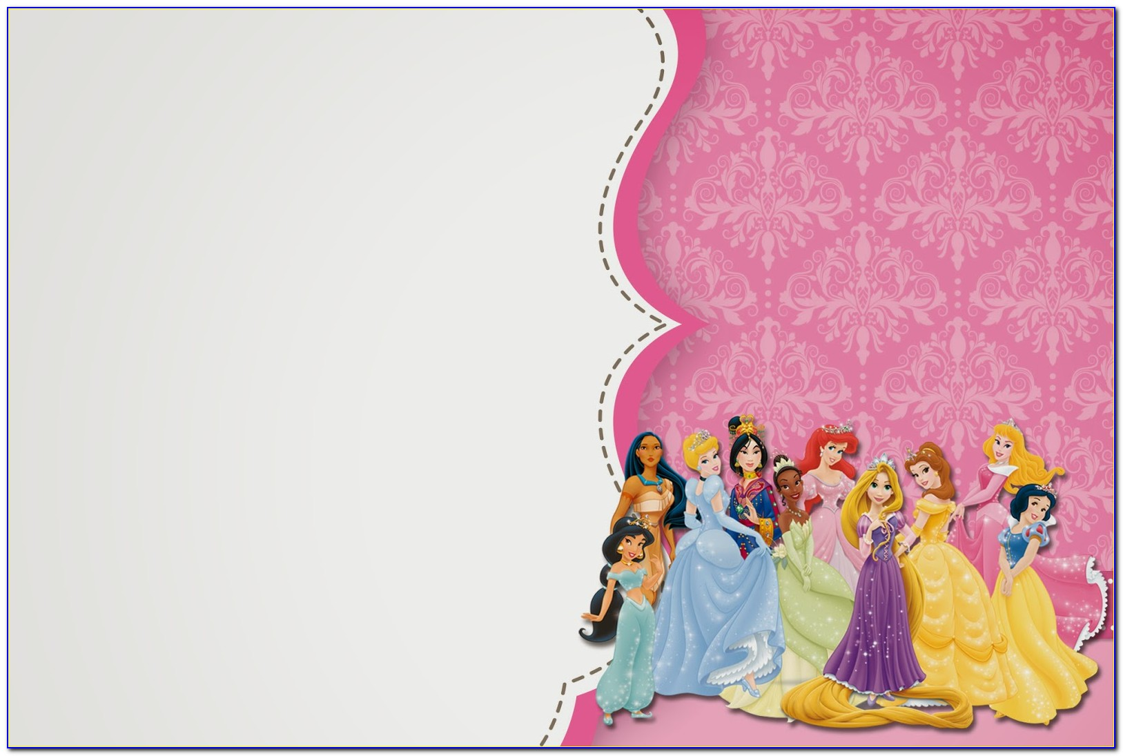 Disney Princess Invitation Template Free