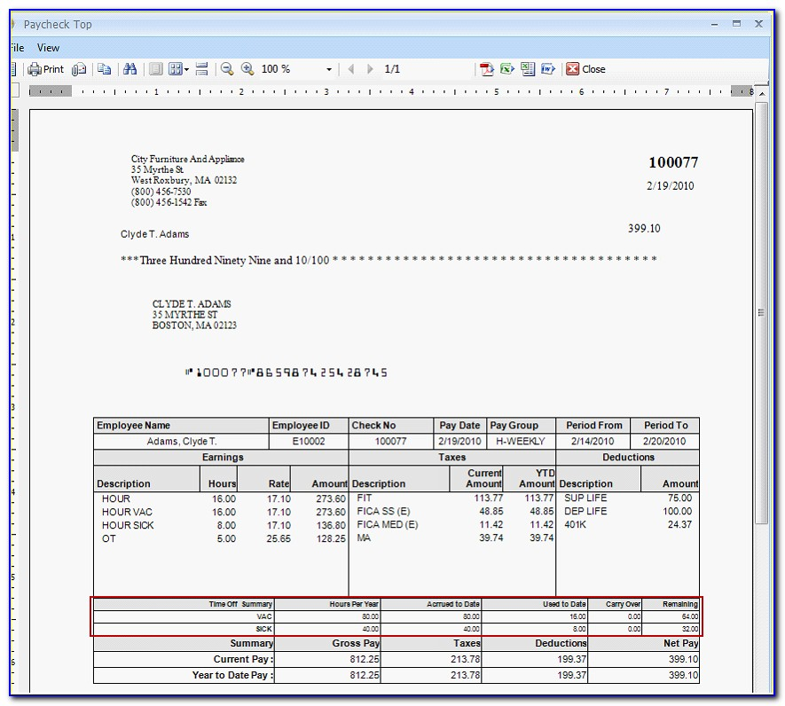 Download A Free Pay Stub Template For Microsoft Word Or Excel