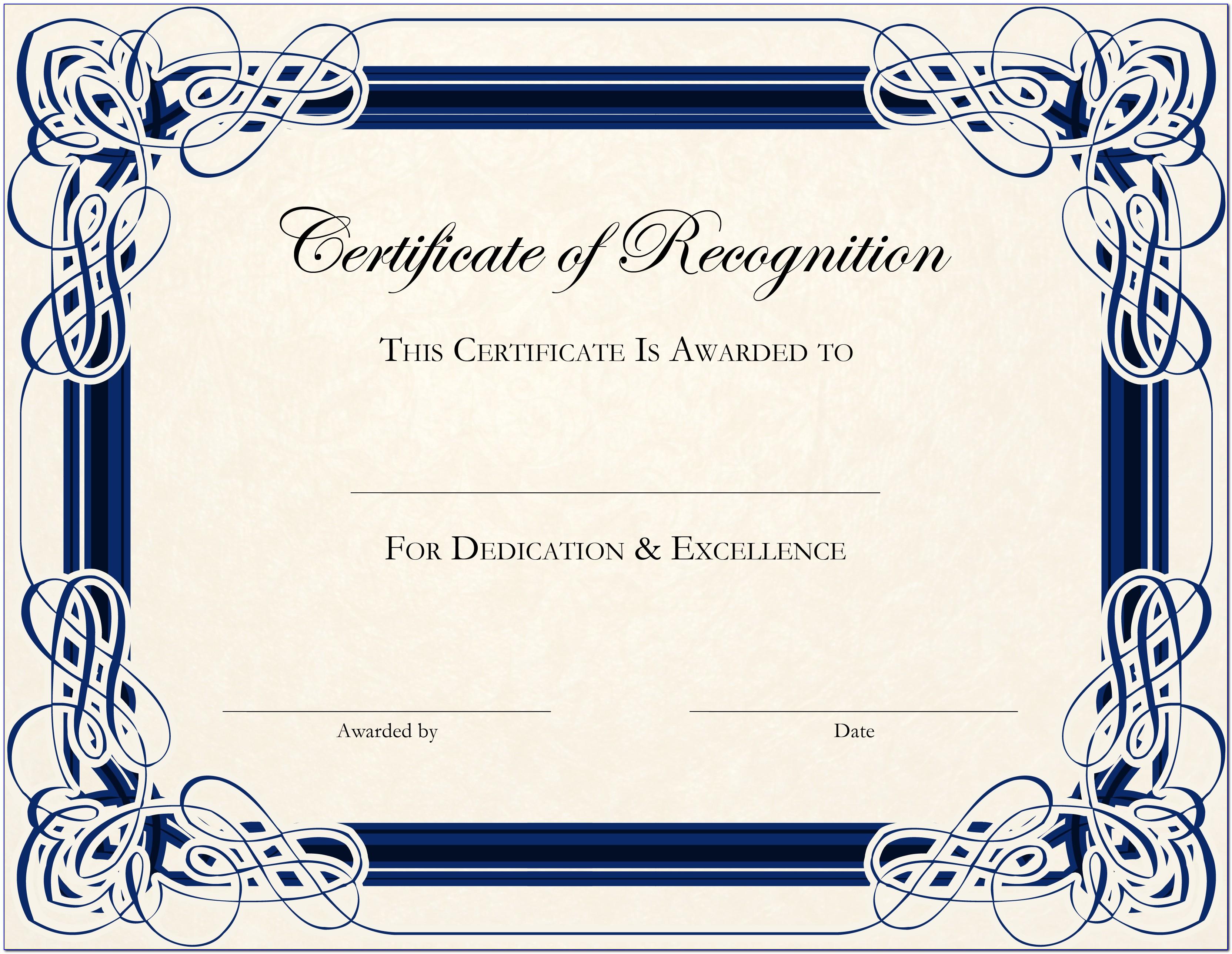 Editable Certificate Of Appreciation Template Free