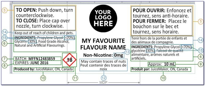 Ejuice Labels Template