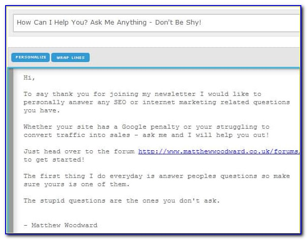 Email Autoresponder Templates