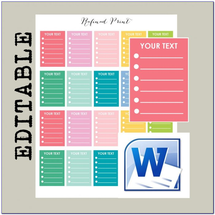 Erin Condren Sticker Template