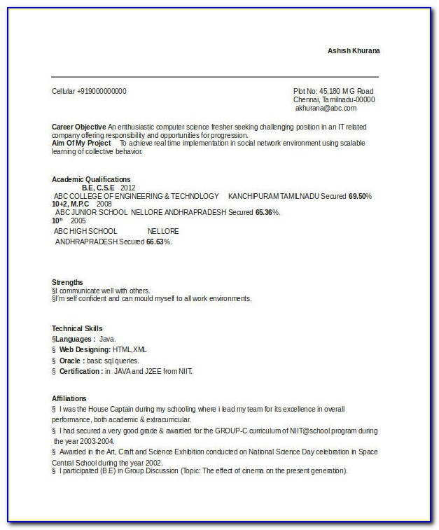 Example Of Resume Writing Cover Letter