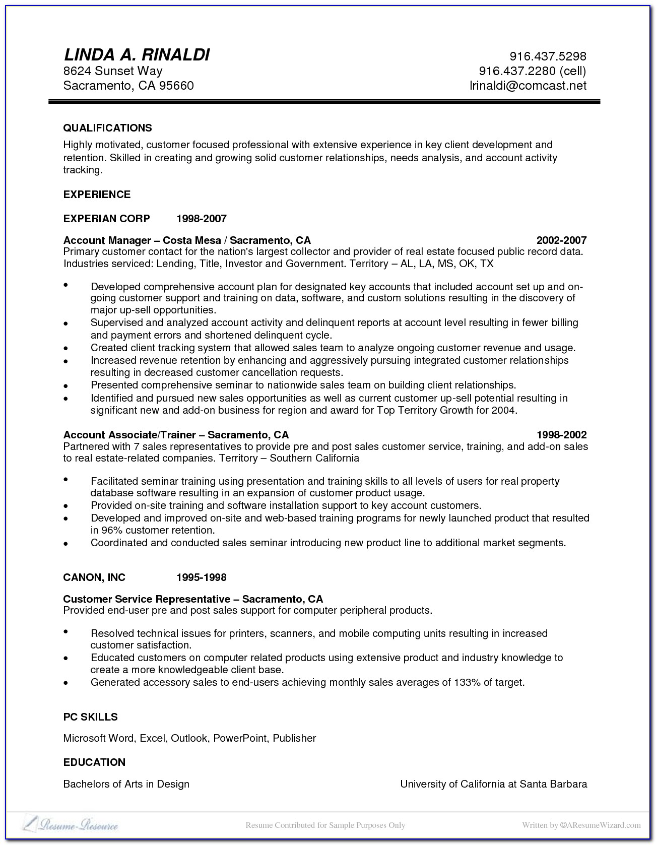 Executive Classic Resume Format Download