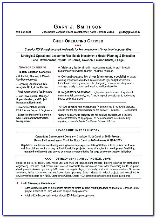 Executive Resume Writing Services Dc
