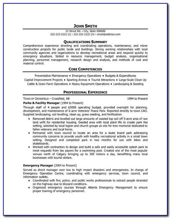 Facilities Director Resume Templates