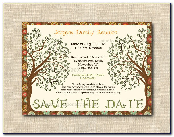 Family Reunion Save The Date Templates Free