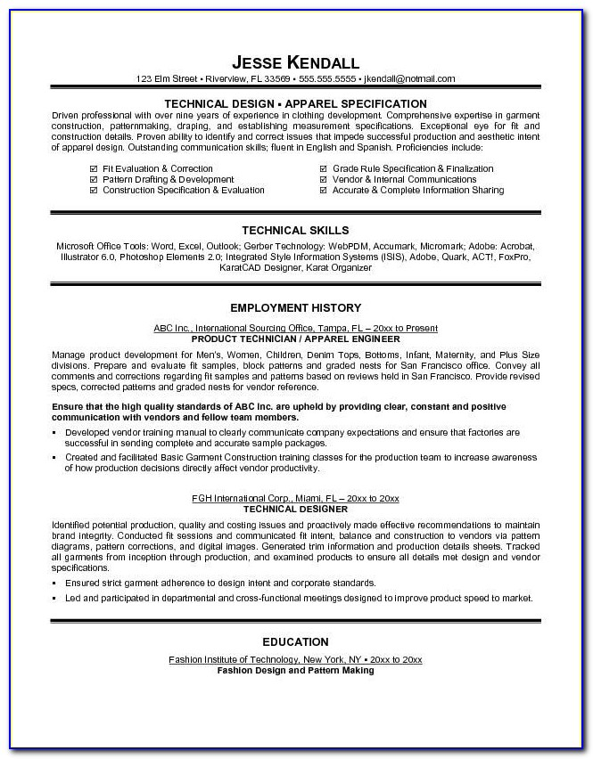 Fashion Designer Resume Sample 22 Related Free Resume Examples Throughout Fashion Resumes Examples