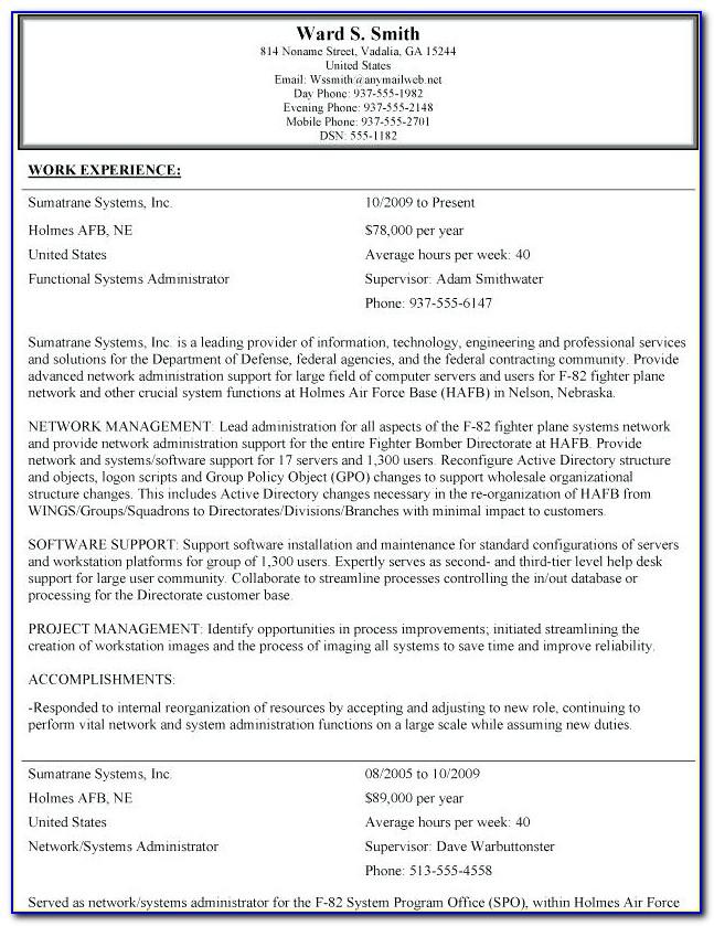 Federal Job Resume Writing