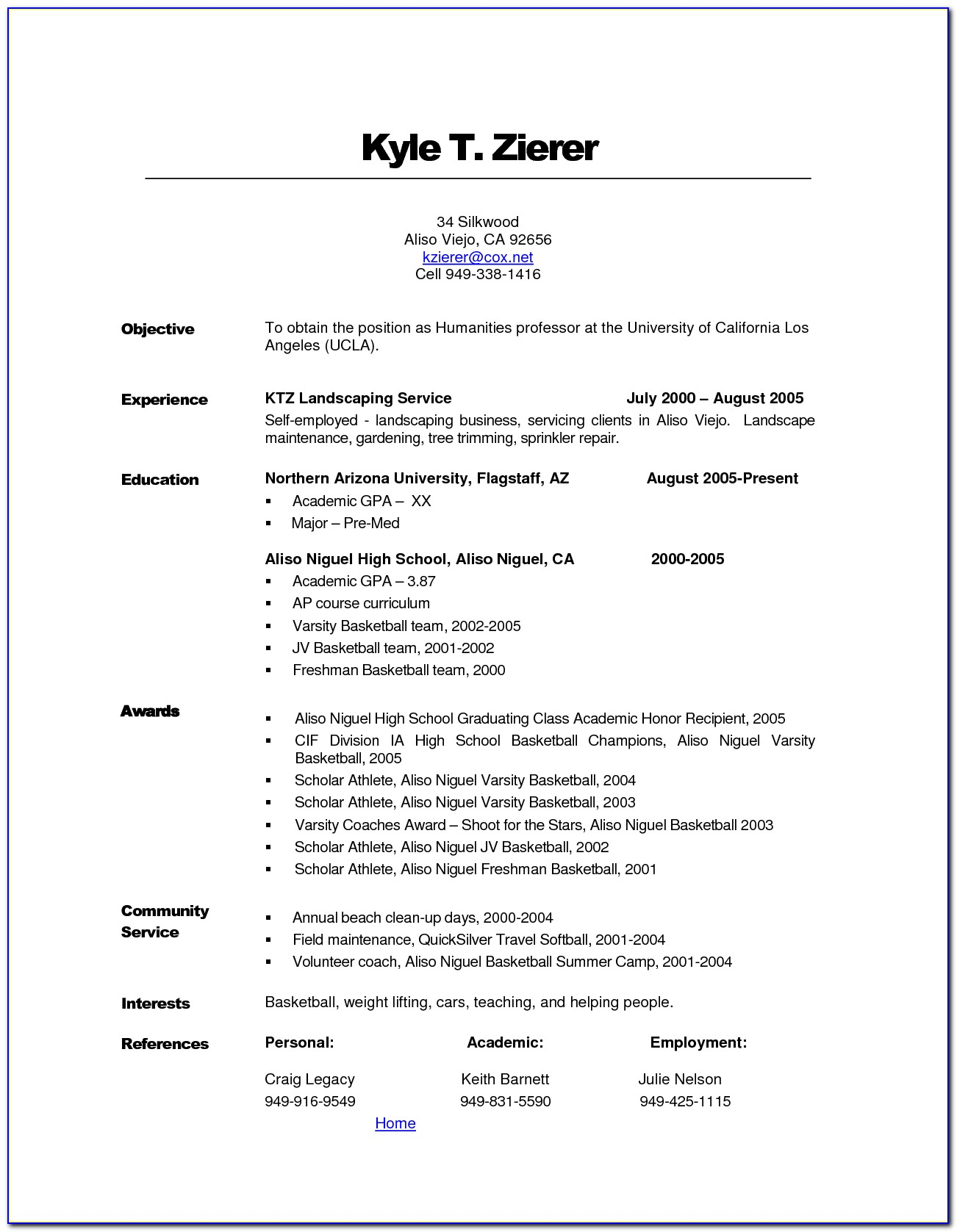 Filling Out Resume Tips