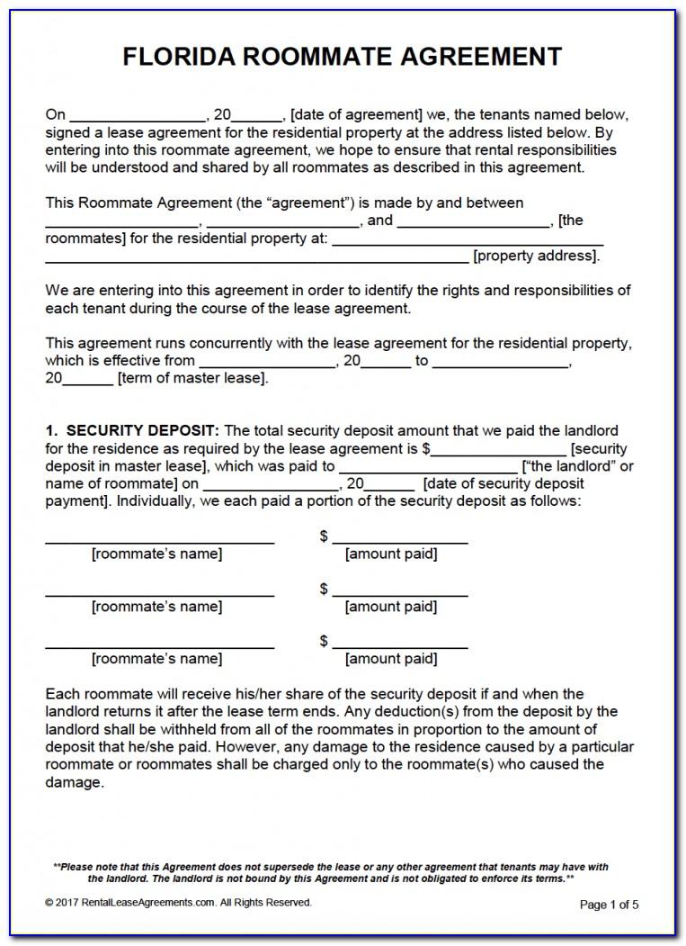 Florida Lease Agreement Form Pdf