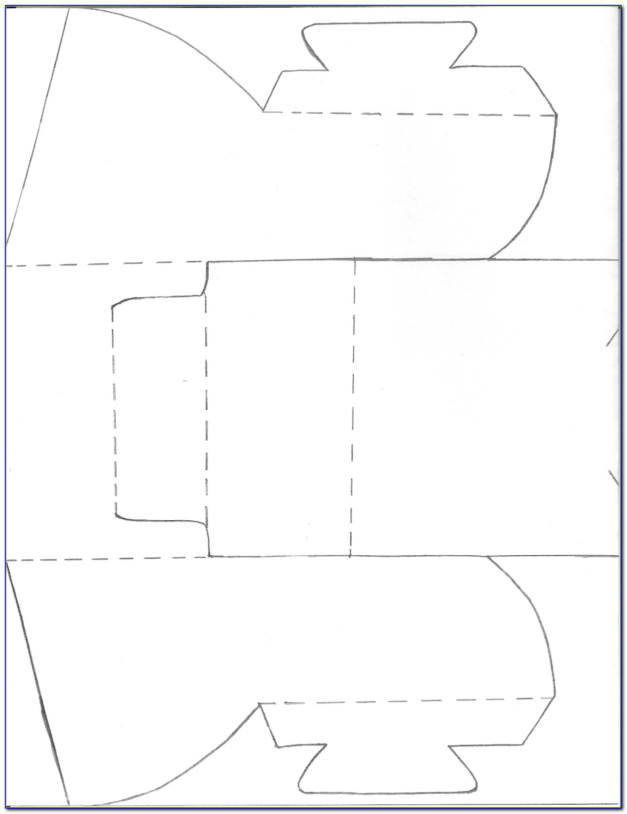 Folded Brochure Psd Template