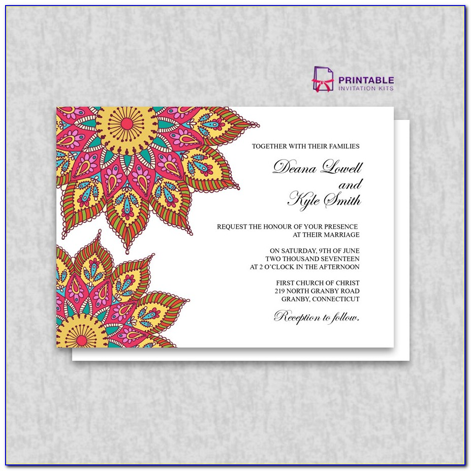 Free Boho Wedding Invitation Templates