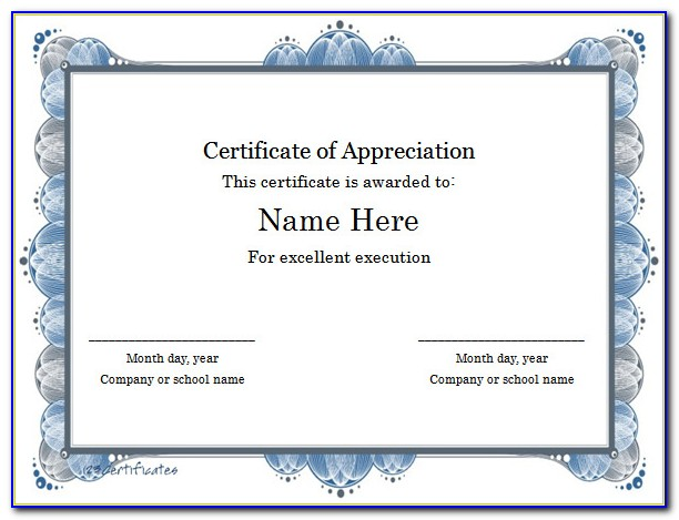 Free Business Certificate Templates For Word