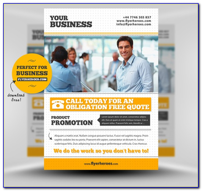 Free Business Flyers Templates Psd