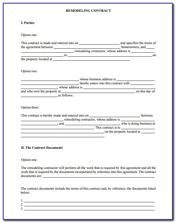 Free California Home Improvement Contract Template
