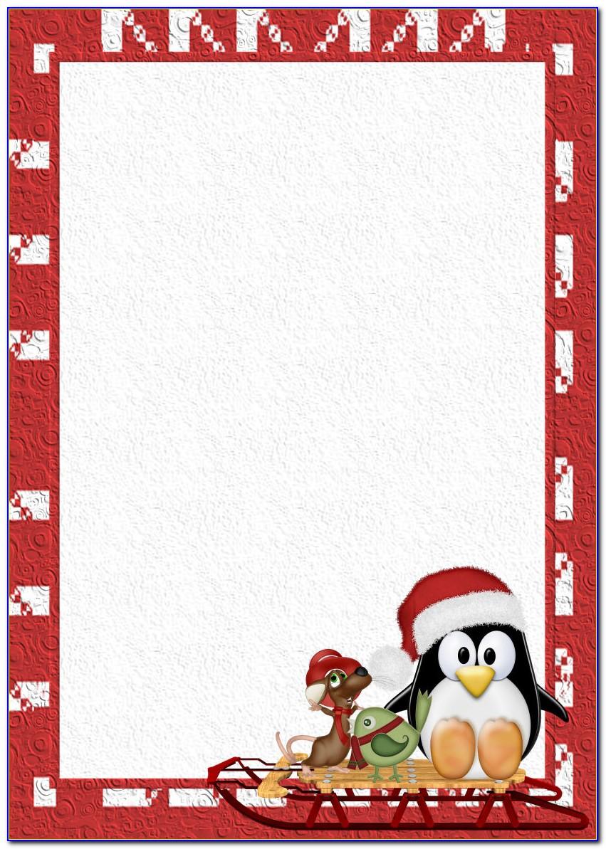 Free Christmas Invitation Templates Word A4