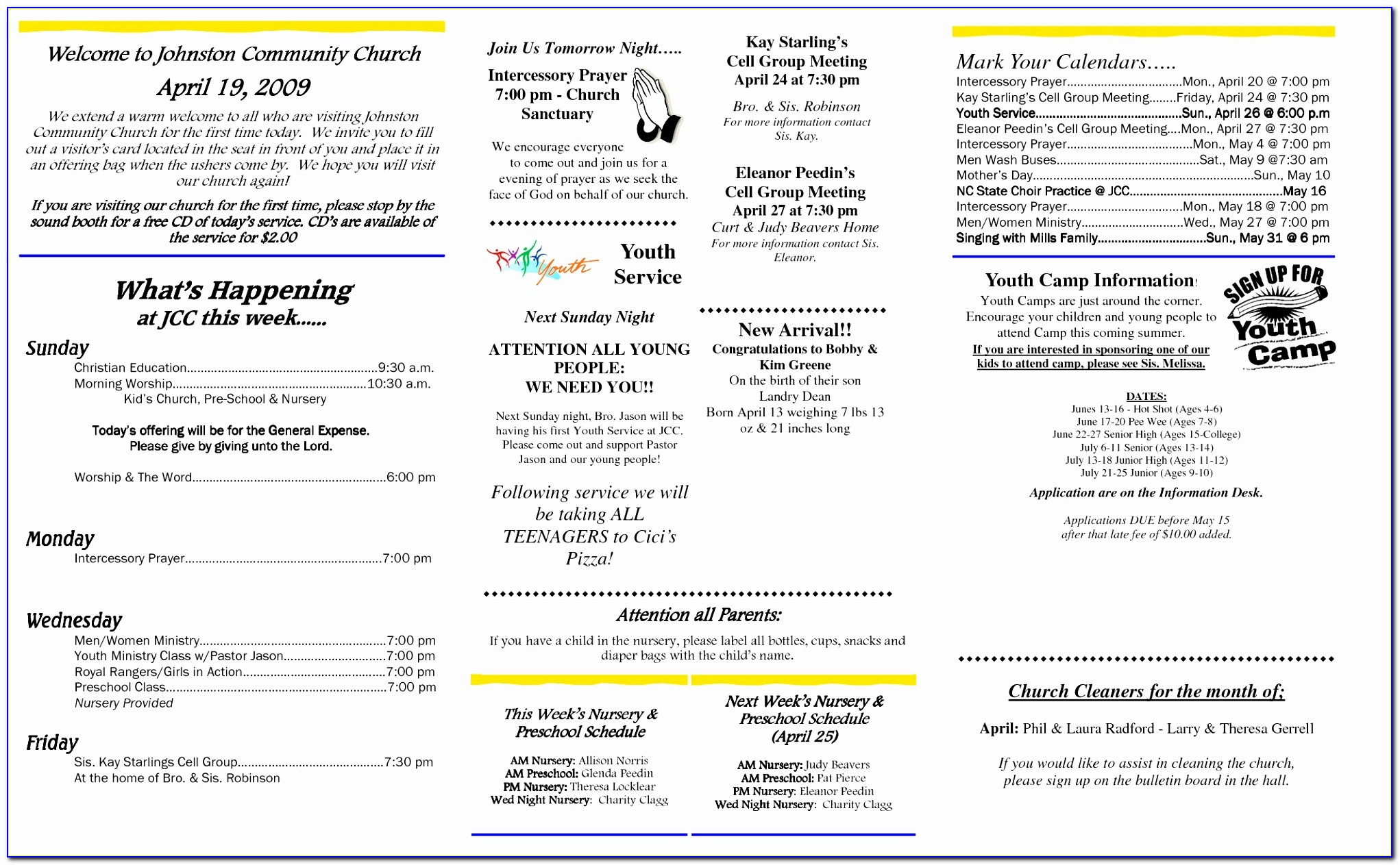 Best S Of Free Printable Church Bulletins Free Free Church Bulletin Template Microsoft Word Fresh Pdf Word Excel Templates Eepyr