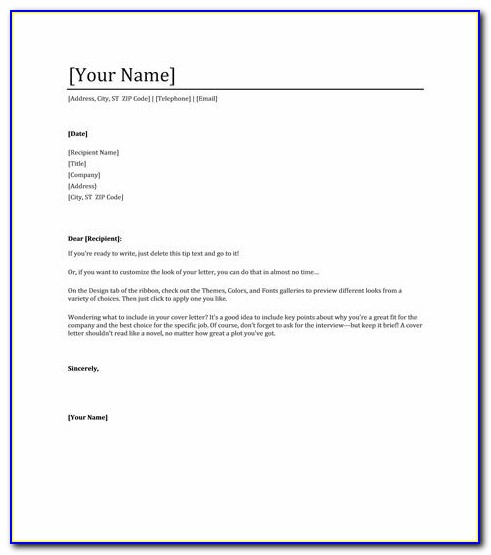 Free Cover Letter For Resume Download