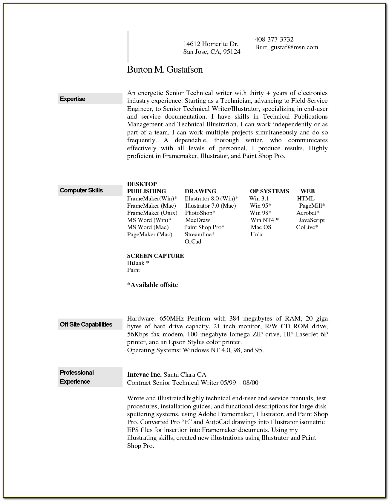 Free Cv Template Mac Pages