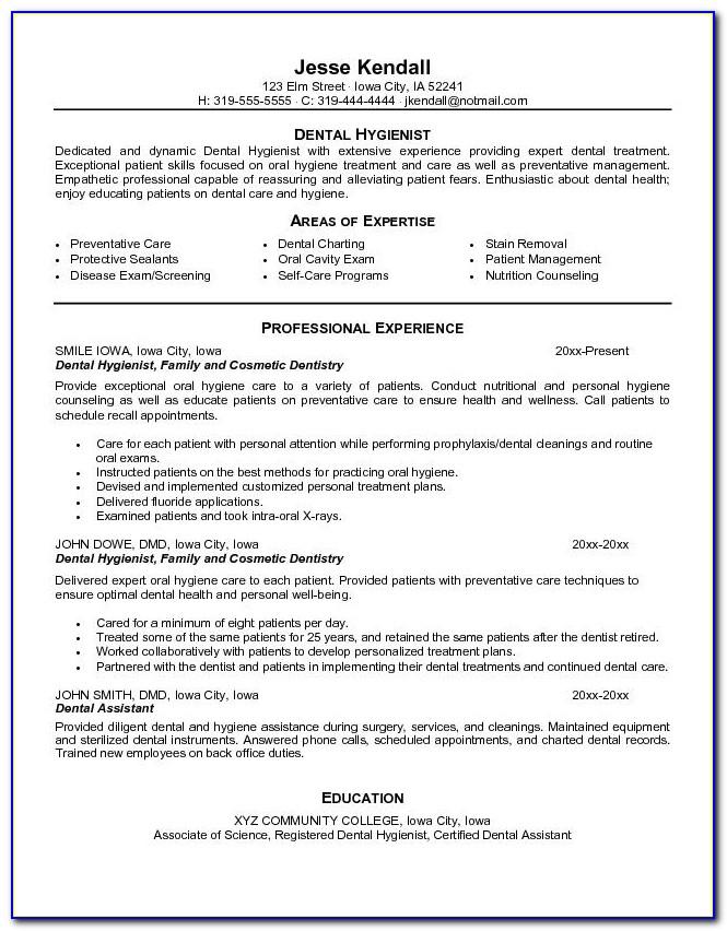 Free Dental Resume Templates