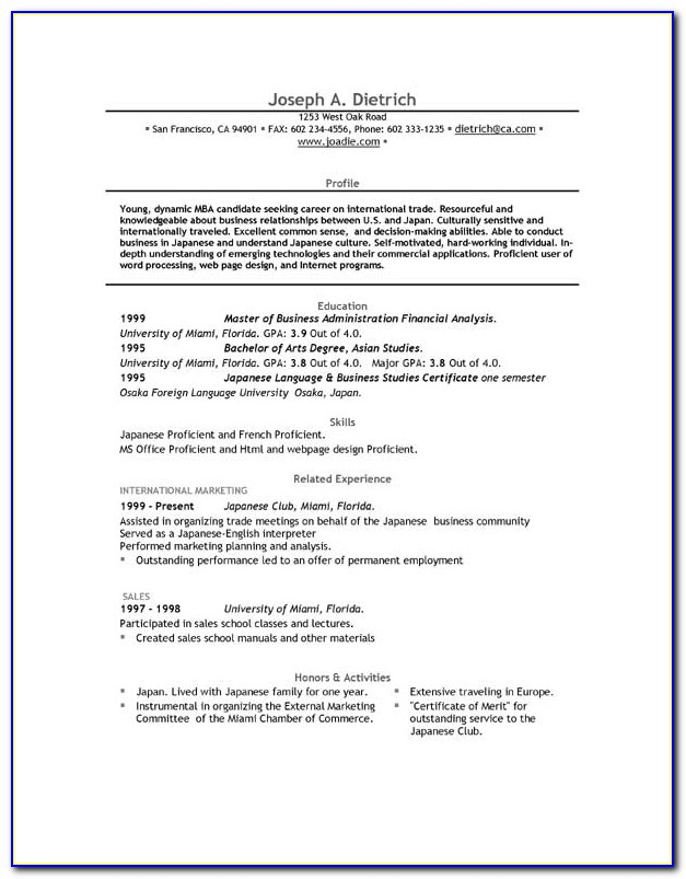 Free Download Resume Templates For Microsoft Word 2013
