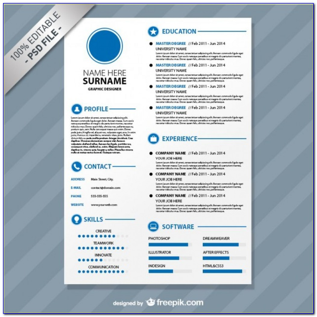 Editable Cv Format Download Psd File | Free Download Resume Format Template Free Download