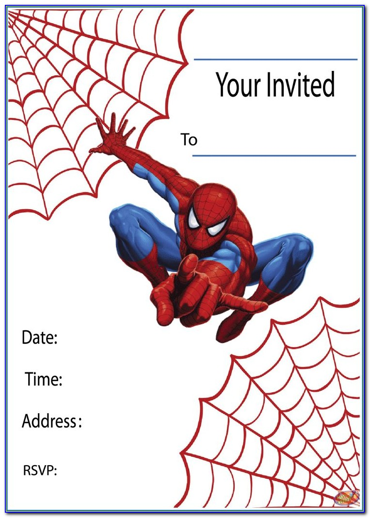 Free Editable Spiderman Birthday Invitation Templates