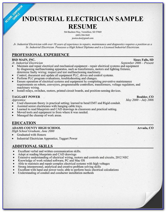 Free Electrician Resume Templates
