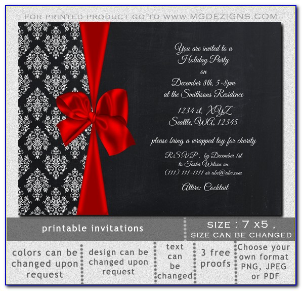 Free Elegant Holiday Invitation Templates