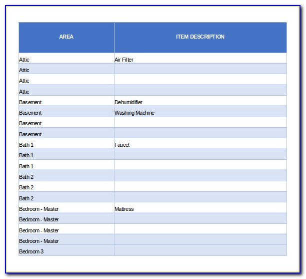 Free Excel Inventory Database Template