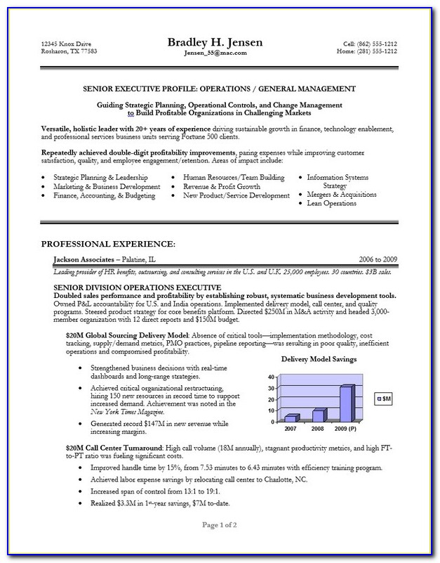 Free Executive Cv Template Download