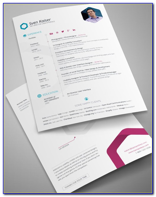 Free Indesign Resume Templates Download